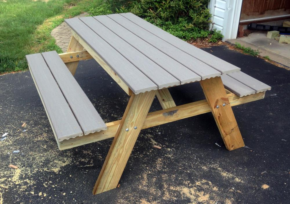 DIY professional picnic table