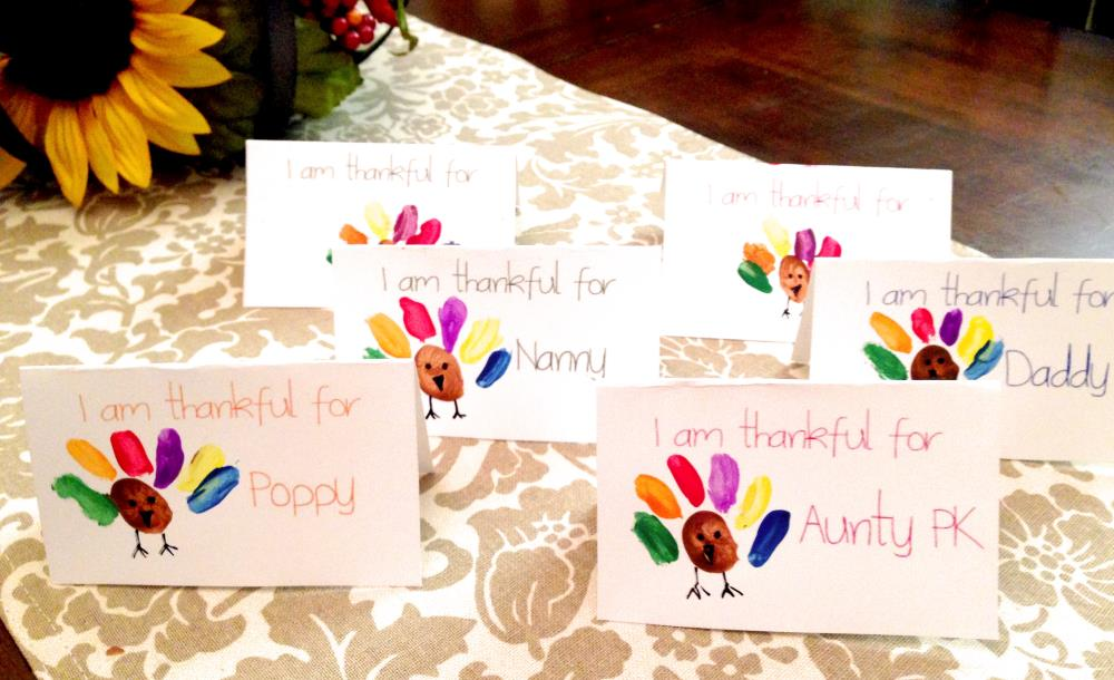 How to make thanksgiving place settings