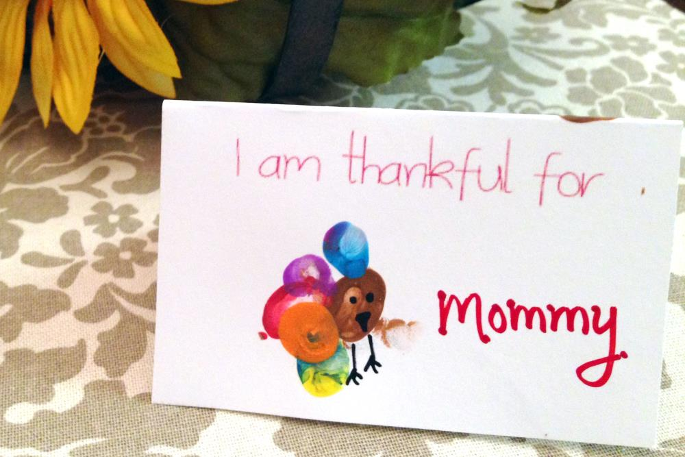 Thanksgiving turkey print place cards