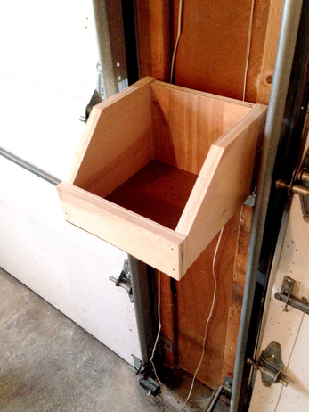 Storage boxes with French cleats