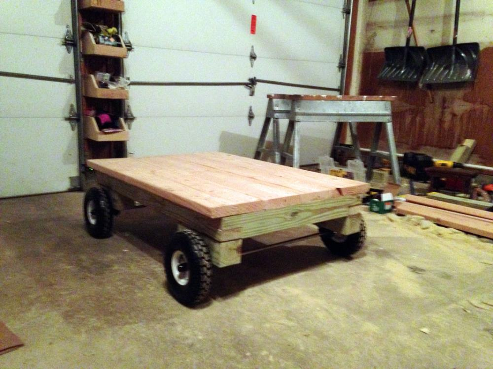 Building a DIY wagon for the mower