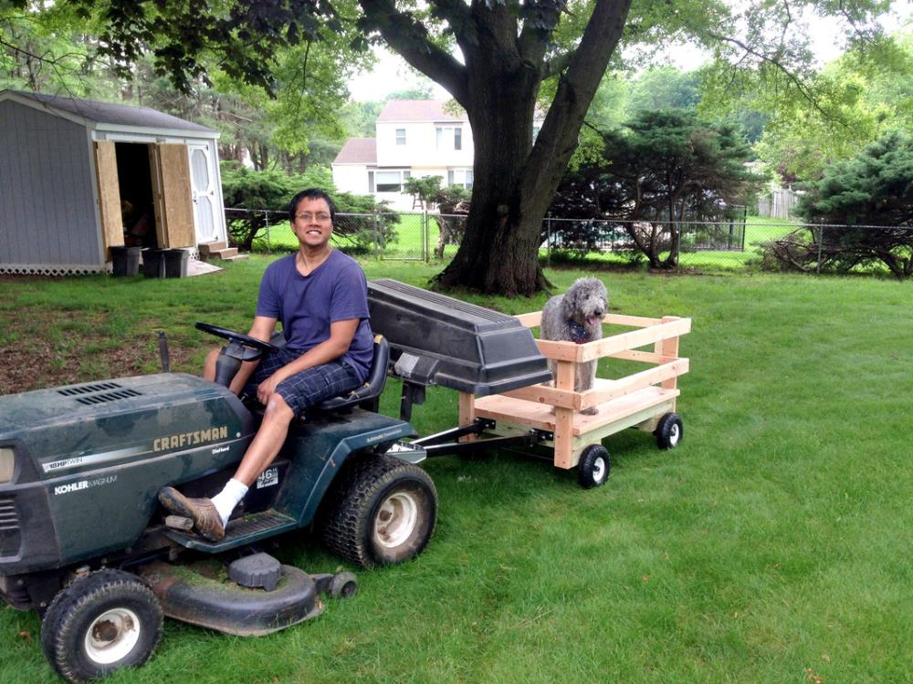 diy wagon for the riding mower