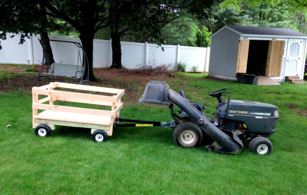 Building a wagon for the riding mower