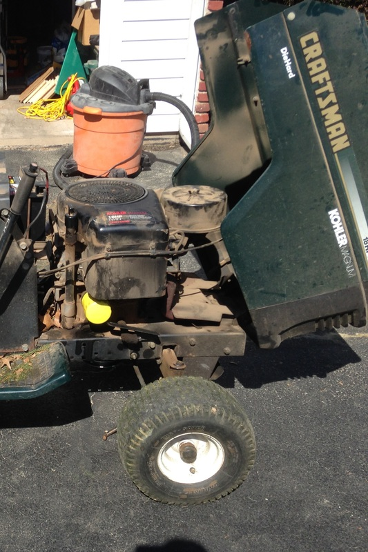Fixing up the mower