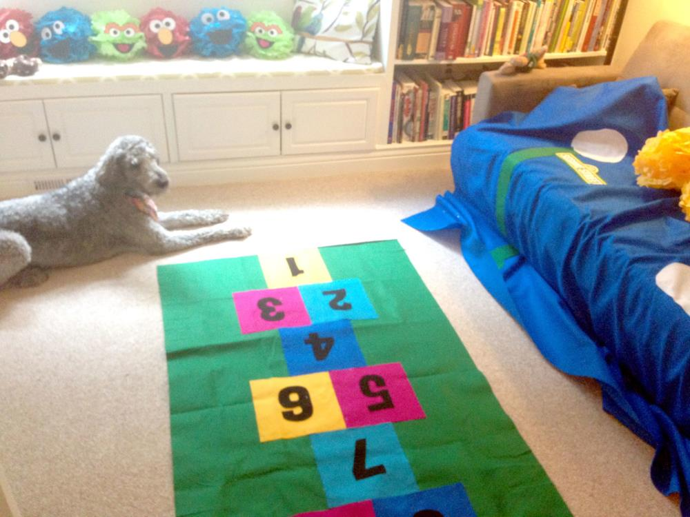 DIY hopscotch mat