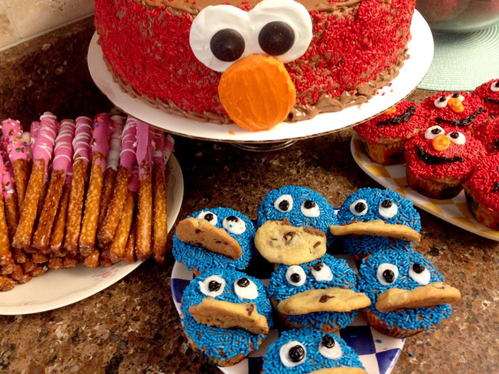 Elmo Cupcakes Cookie Monster Cupcakes
