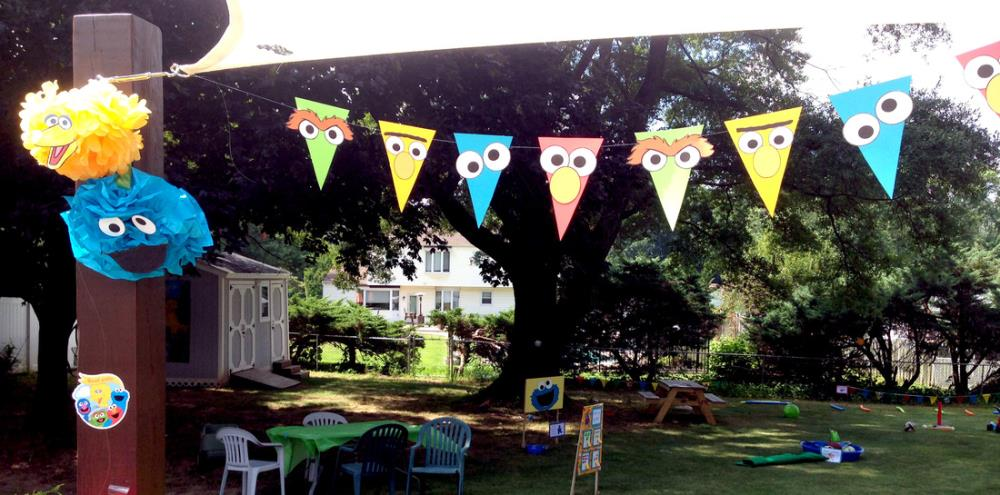 DIY Sesame Street Party Decorations