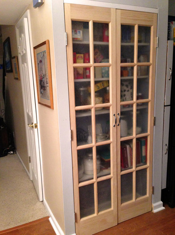 Updating our pantry with French doors