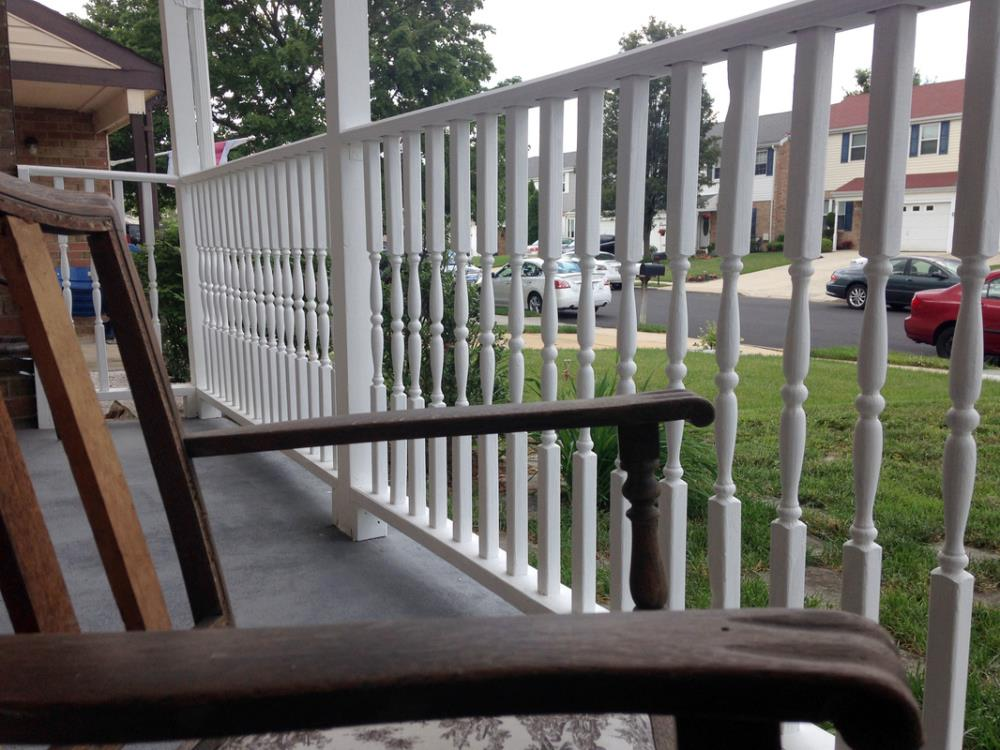 Adding curb appeal with porch railings