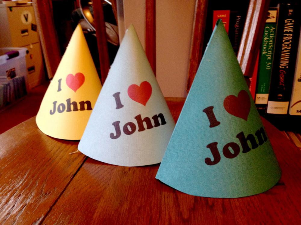 Beatles party hats DIY