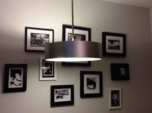 Light fixture and gallery wall