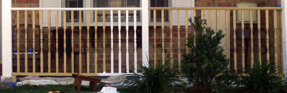 Painting porch railings