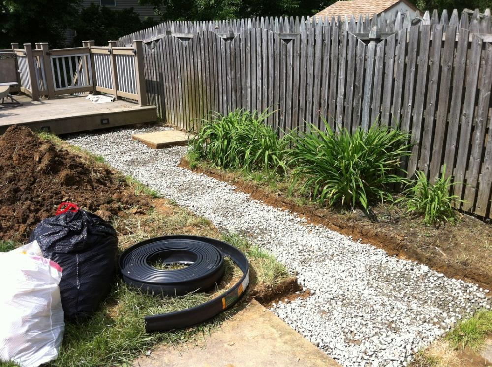 Creating a backyard stone pathway
