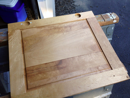 Using gel stain on cabinet doors