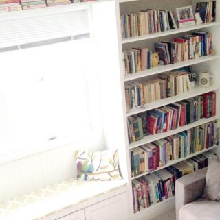 Floor-To-Ceiling Bookshelf (With a Window Seat)