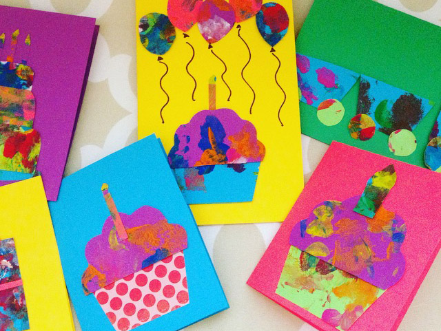 Making Cards from Preschoolers Art