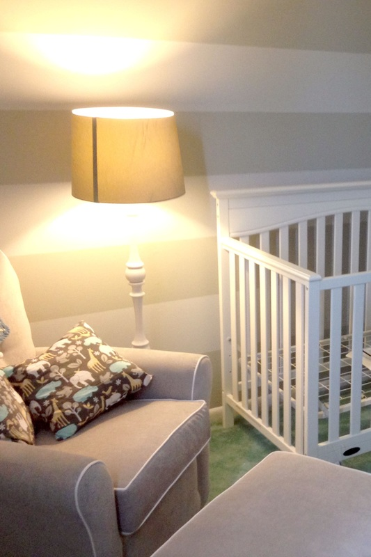 white and gray nursery