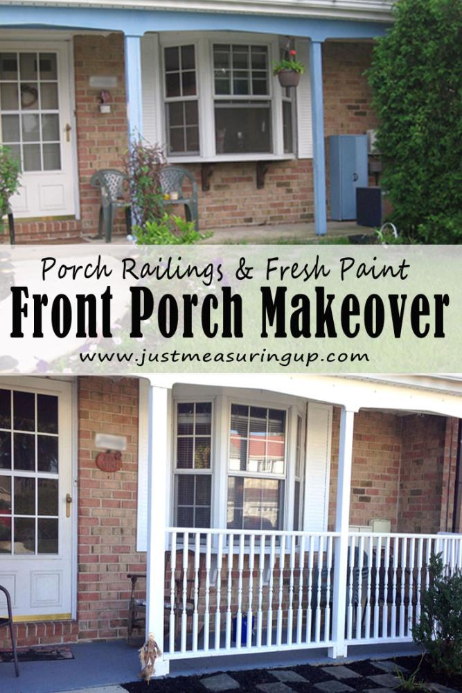 Front Porch Makeover - Step by Step Tutorial on Adding Porch Railings