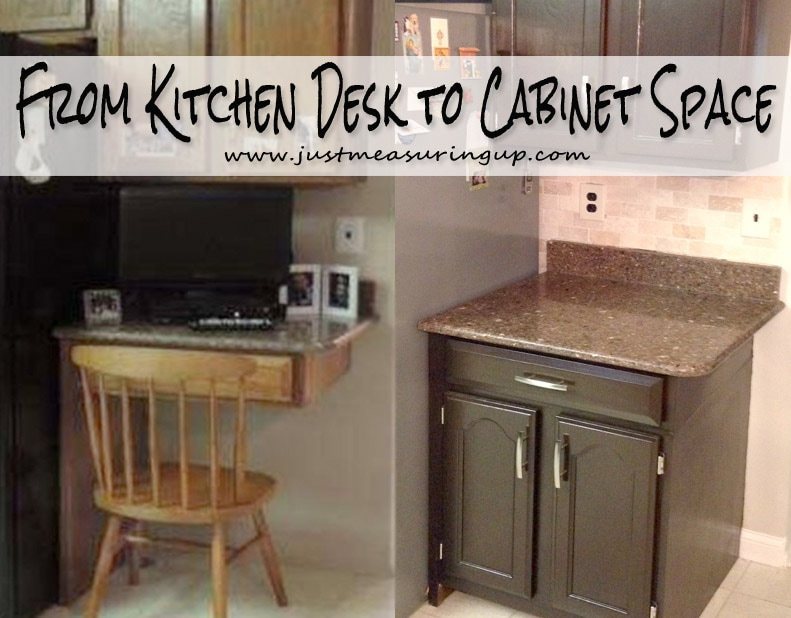Turning a Kitchen Desk into Cabinet Space