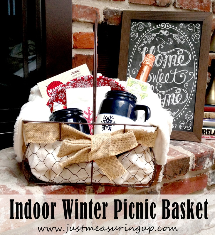 Homemade, Inexpensive Indoor Winter Picnic Basket