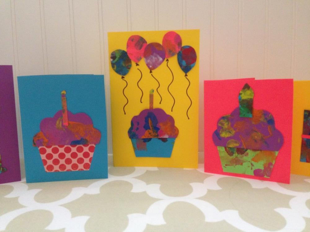 Making Cards with Toddler Pictures