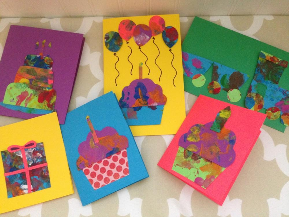 Making cards from toddlers