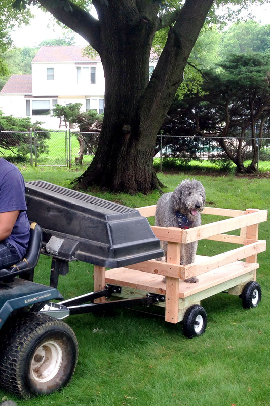 How to build a wagon for the riding mower