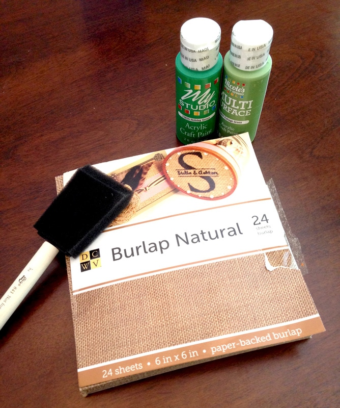 Materials for DIY Burlap Banner