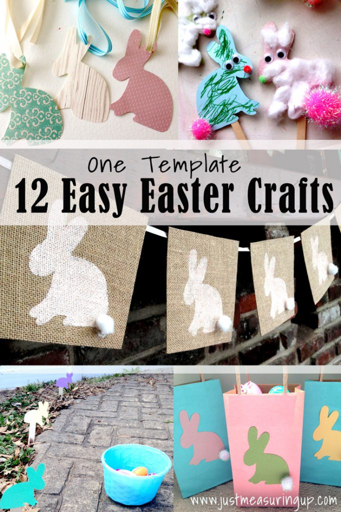 12 Easy Easter Crafts Made from One Template - free printable