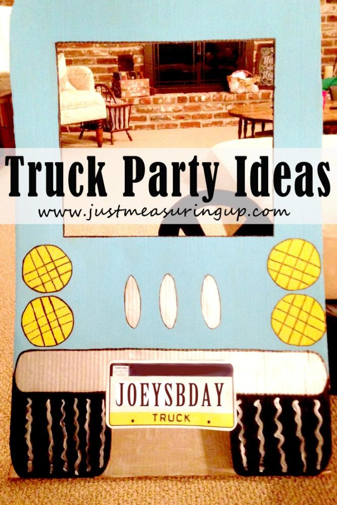 Awesome truck party DIYs -  including a photo booth and pin the wheels game