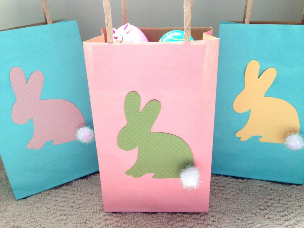 Easter Bunny Crafts - bunny bags