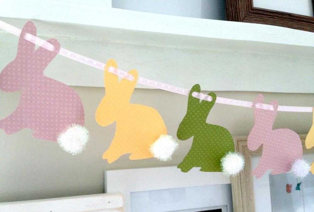 Easter Bunny Banner - free printable