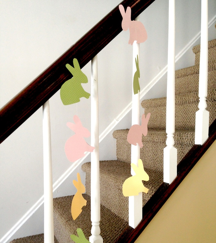 Bunny Garland Easter Craft with free printable