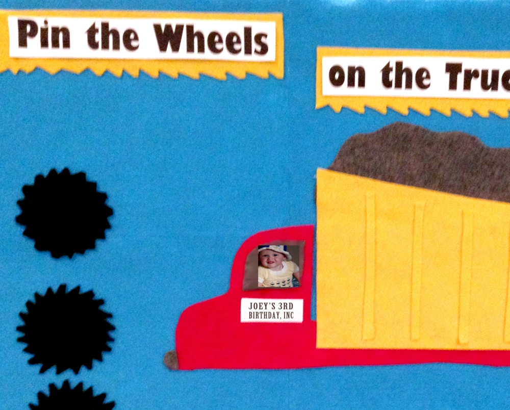 DIY Pin the Wheels on the Truck Felt Board