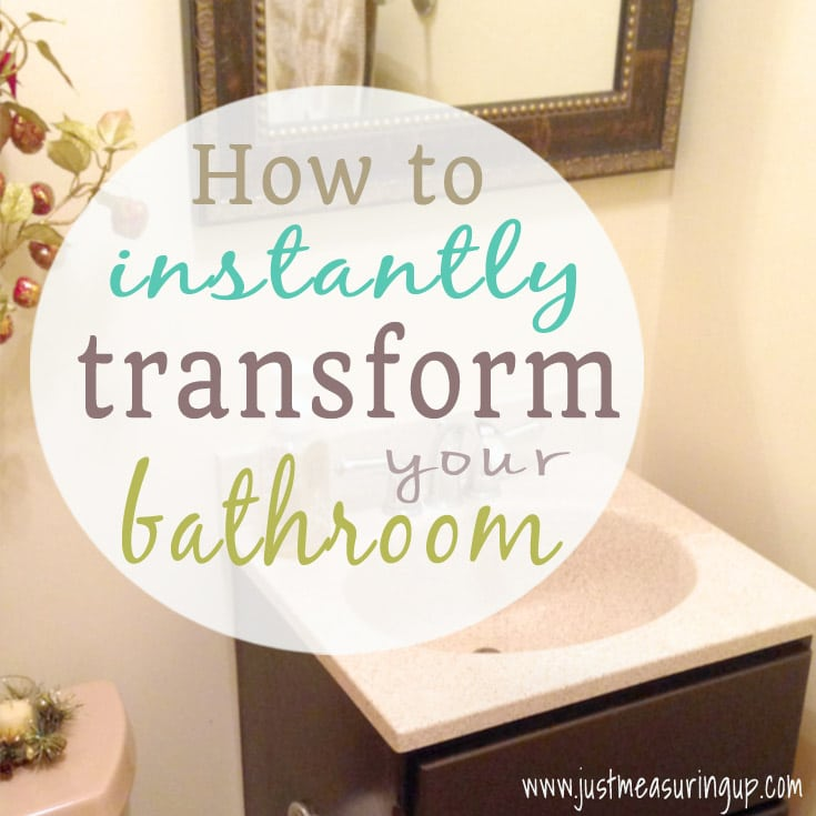 Beige Bathroom Makeover with Gel Stain