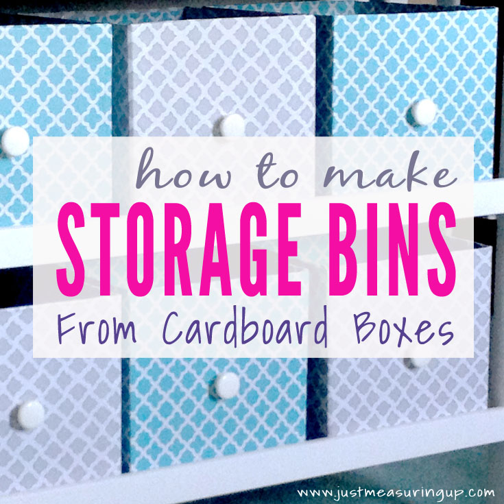 Making Customized Storage Bins From Cardboard Boxes Diy