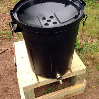 Making a DIY Rain Barrel from a Trash Can