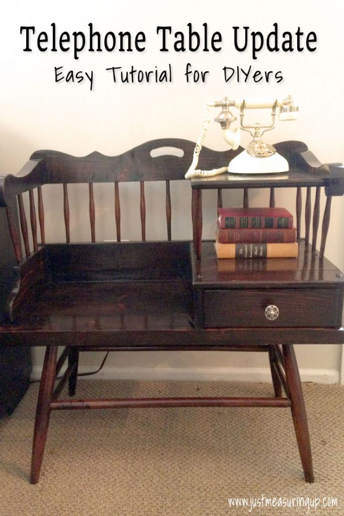 Refinishing Furniture - Telephone Table & Gel Stain