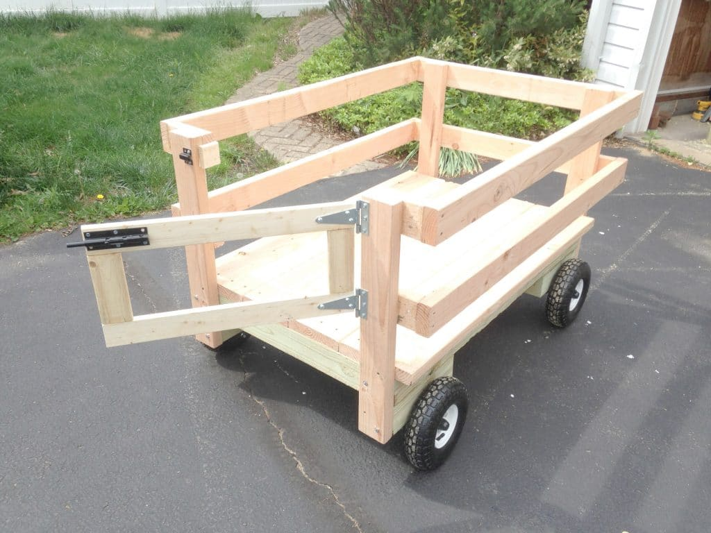 How to Make a Wagon for Yard Work that Attaches to the Mower