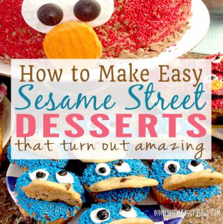 Easy Homemade Elmo and Cookie Monster Cupcakes