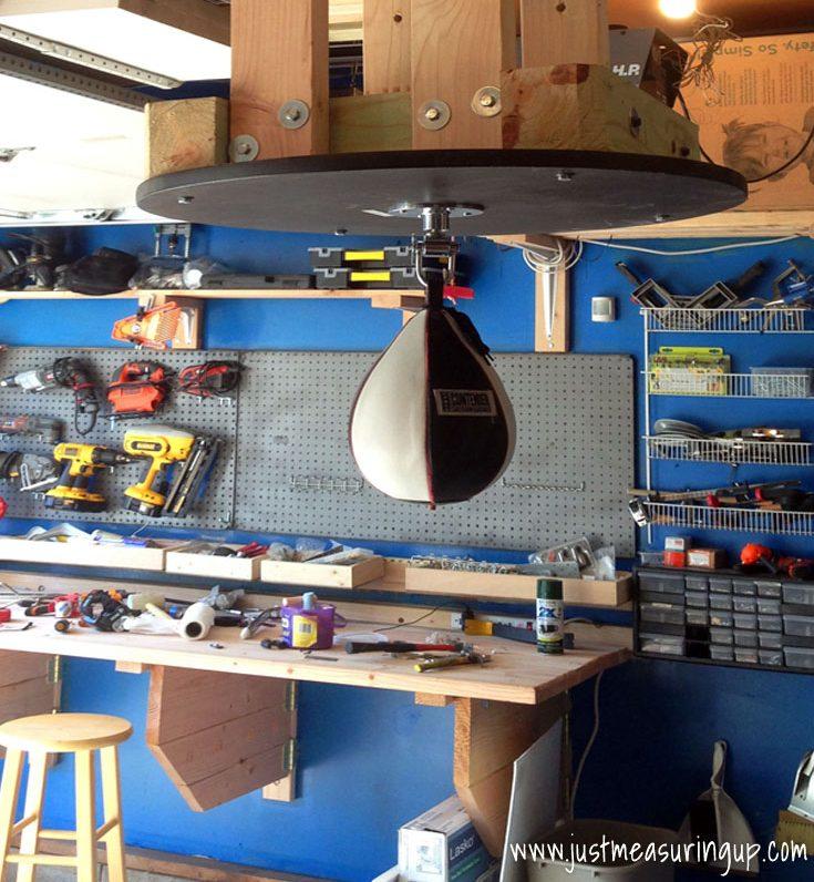 DIY Boxing Speed Bag Station That Stows