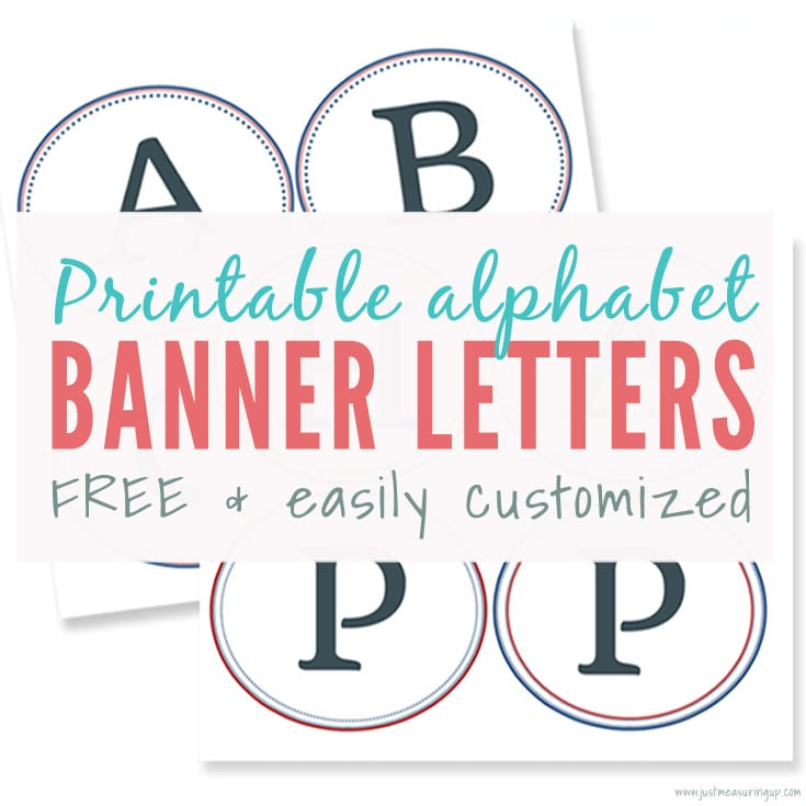 photo relating to Printable Letter for Banners named Cost-free Printable Banner Letters Produce Very simple Do-it-yourself Banners and Signs and symptoms