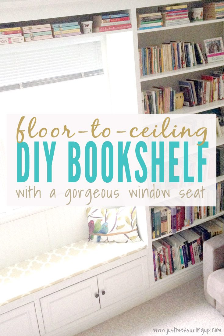 Sitting Room Revamp with Bookshelves and a Window Seat