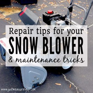 How to Fix Up Your Old Snowblower