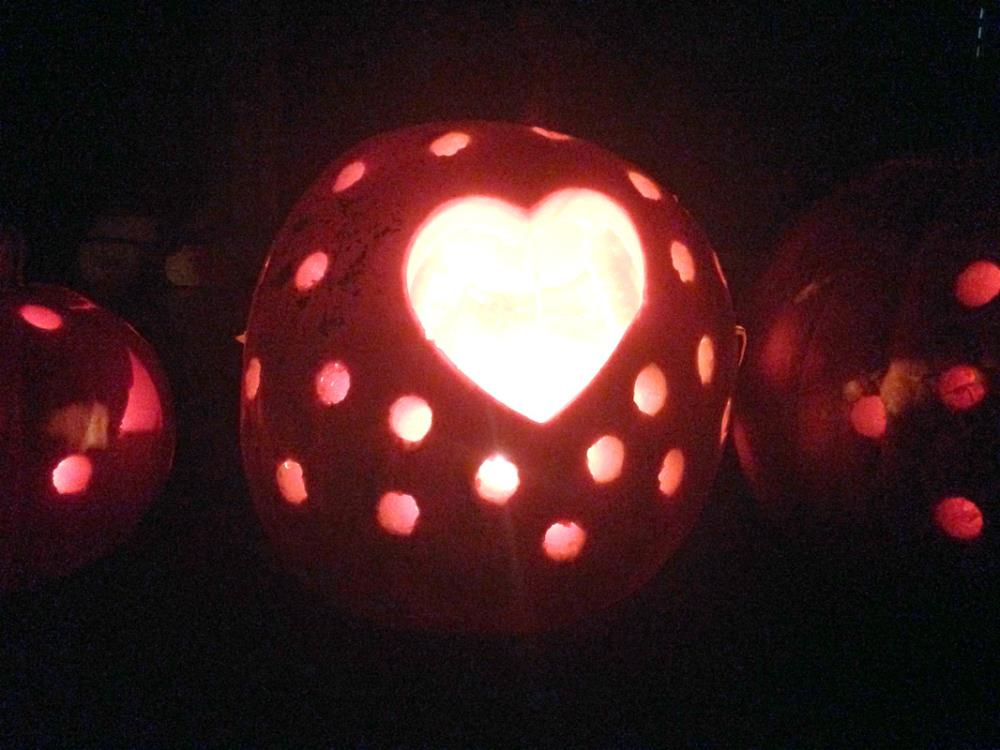 Pumpking Carving with Cookie Cutters and Power Tools