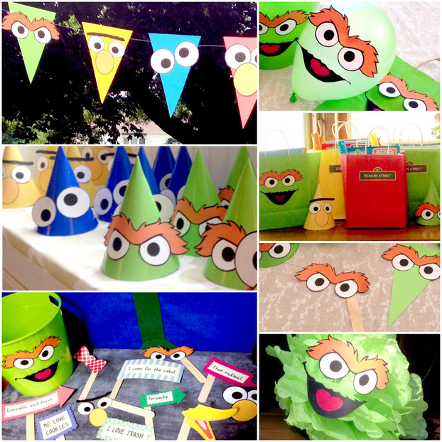 How to throw a diy sesame street party that everyone will remember diy sesame street decorations solutioingenieria Image collections