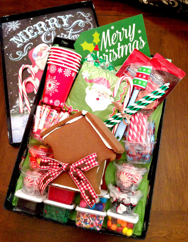 Easy DIY Gingerbread Decorating Gift Basket