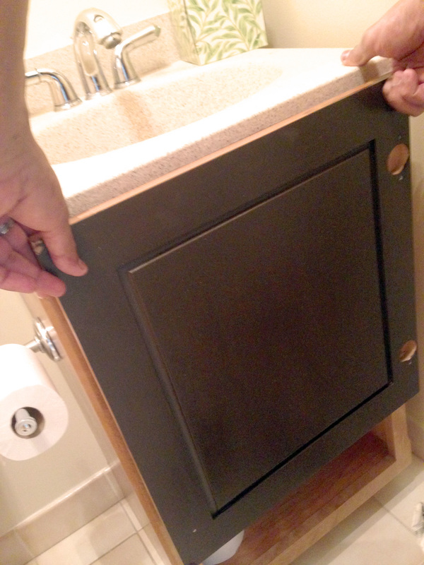 Gel Staining Bathroom Vanity - Cost-effective and Easy Update