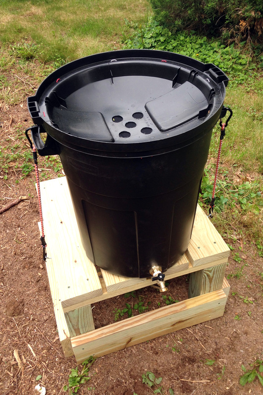 How to Water Your Garden with a DIY Rain Barrel Trash Can