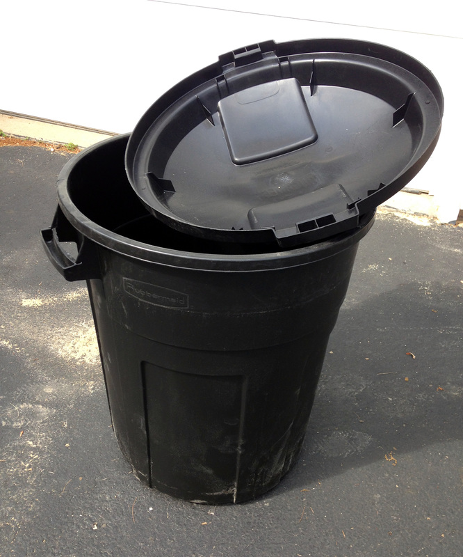 Using a trash can as a rain barrel